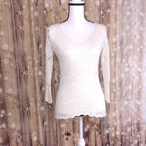 KOKOKAI crocheted long sleeve shirt